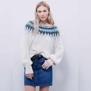 Free People Baltic Fair Isle Sweater